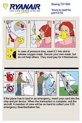 Ryanair Safety Card | by markhillary