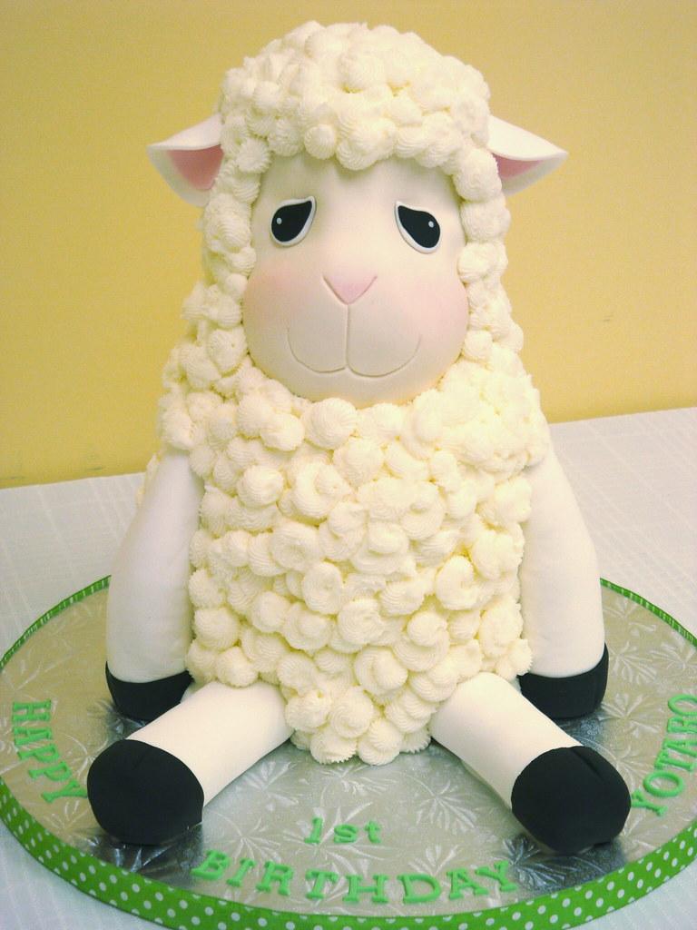 Terrific Little Lamb Cake I Made A Similar Cake For The Same Person Flickr Funny Birthday Cards Online Benoljebrpdamsfinfo