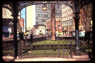 View through Pioneer Square pergola, circa 1960s | by Seattle Municipal Archives