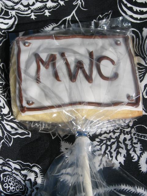 Rectangular Monogram Cookie