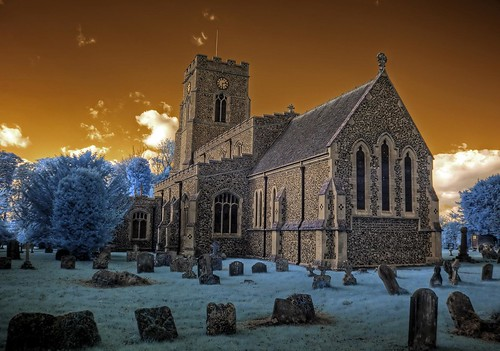 Infrared HDR All Saints church Lawshall Suffolk | by Brokentaco
