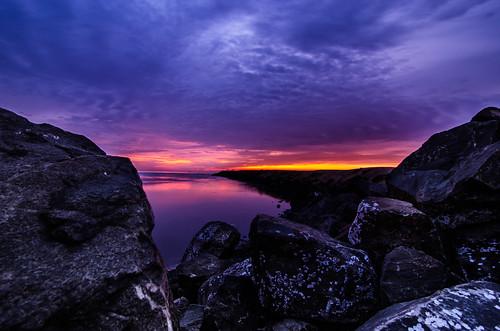 sun india seascape beach clouds marina sunrise landscape pier nikon scenery colours wideangle tokina marinabeach chennai tamilnadu cwc stonepier தமிழ்நாடு சென்னை 1116mm d7000 tokina1116mmf28 chennaiweekendclickers purplepier மரீனா cwc440