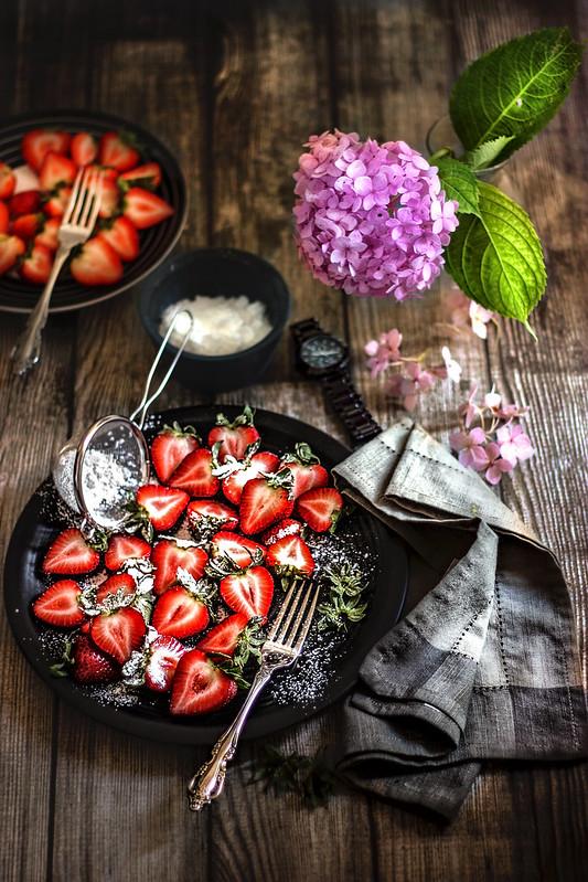 Strawberries and powdered sugar :)