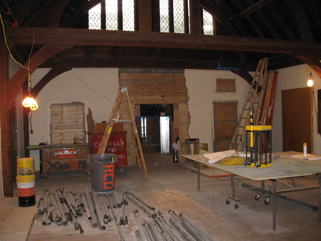 Meetinghouse Room: Preparing for the installation of new s
