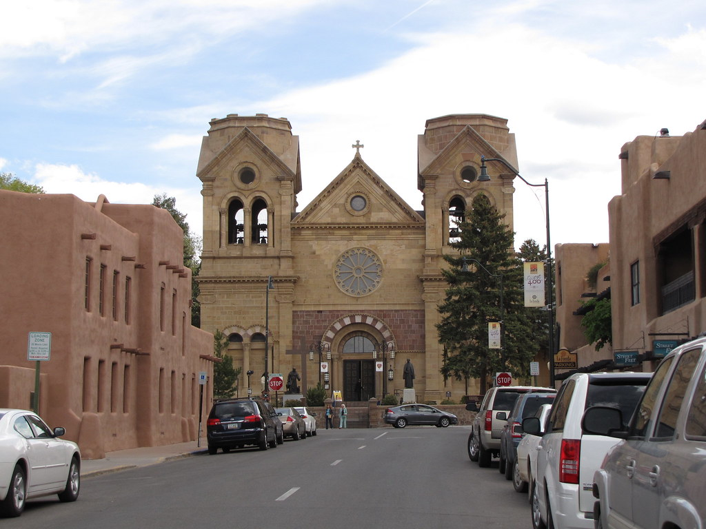 Old Town Santa Fe >> Old Town Santa Fe The Cathedral Basilica Of St Francis Of