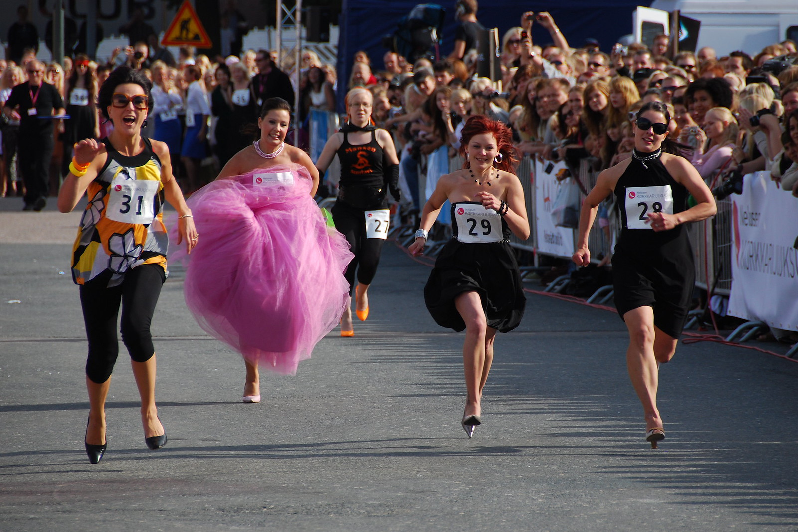 Running with High Heels