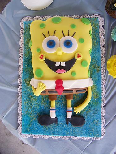 Spongebob Squarepants Birthday Cake | This sheet cake was ma… | Flickr