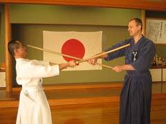 Practicing Jo with Kawamura Sempai | by Mark Tankosich