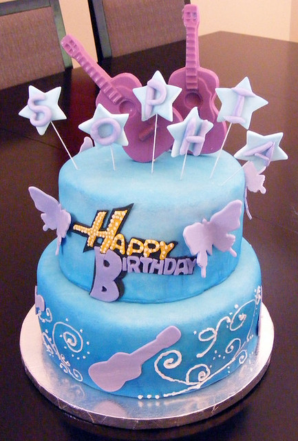 Cool Hannah Montana Birthday Cake Tamar Preiss Flickr Birthday Cards Printable Inklcafe Filternl