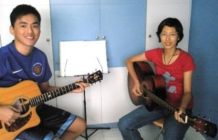 1 to 1 guitar lessons Singapore Jia Lin