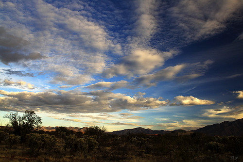 sunset arizona clouds az greenvalley