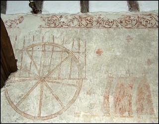 St Edmund's coffin on a bullock cart