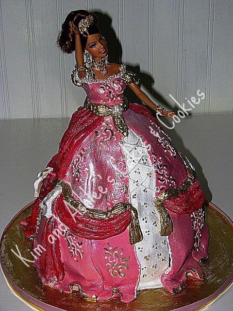 Amazing Pink Princess Barbie Birthday Cake Pink Barbie Birthday Ca Flickr Funny Birthday Cards Online Elaedamsfinfo