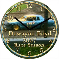 Dewayne Stock Car Sport Clock | by customclockface