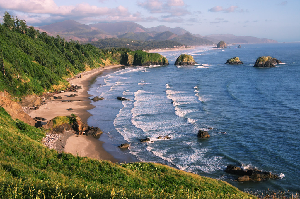 Crescent Beach At Ecola State Park Oregon Coast Near Sun