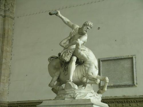 Ercole e il centauro Nesso a Firenze (Toscana)