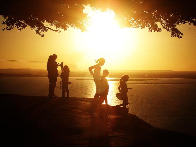 Pôr-do-sol em Porto Alegre