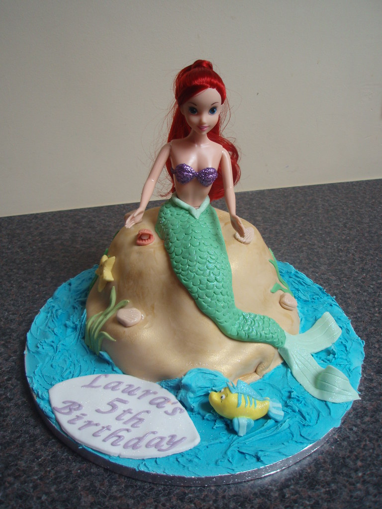 Sensational Ariel The Little Mermaid Birthday Cake This Was A Cake Tha Flickr Funny Birthday Cards Online Alyptdamsfinfo