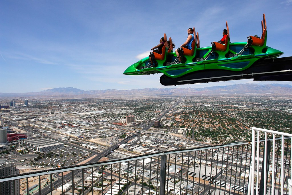 Thrill Ride Super Shot On Top Of The Stratosphere Las V Flickr
