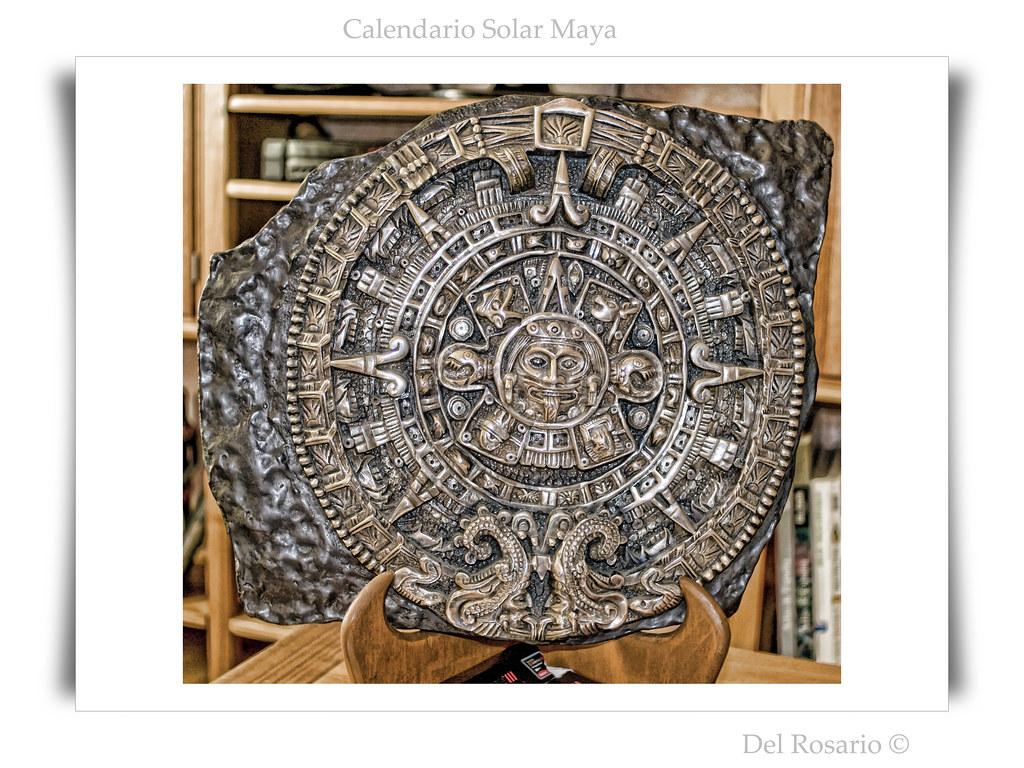 Calendario Solar Maya.Calendario Solar Maya Large View On Black En Grande Fondo