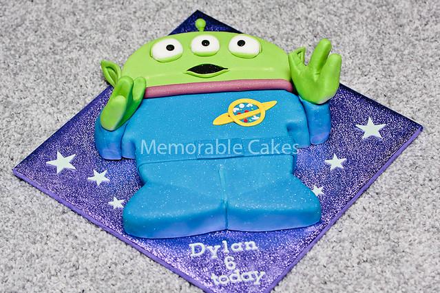 Superb Toy Story Alien Cake Out Of This World Birthday Cake Sheona Funny Birthday Cards Online Elaedamsfinfo