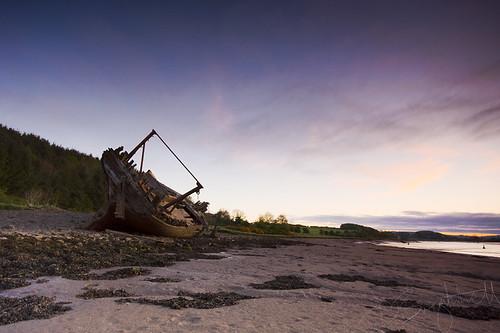 water sunrise scotland sand scenery ship sony sigma shipwreck shore wreck 1020mm kirkcudbright a550