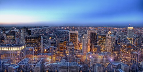 Central Park  as dusk falls from the top of Rockefeller Center | by Trey Ratcliff