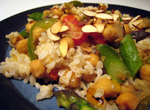 Brown Rice, Asparagus and Chickpeas | by fritish