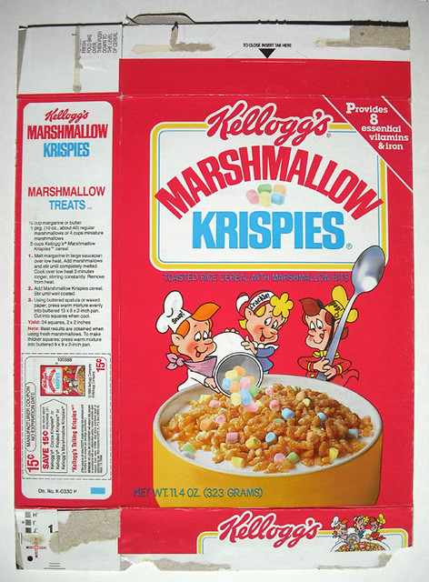 1985 Kellogg's Marshmallow Krispies Cereal Box Front