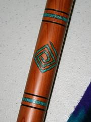 "Flute Detail   by ""Caveman Chuck"" Coker"