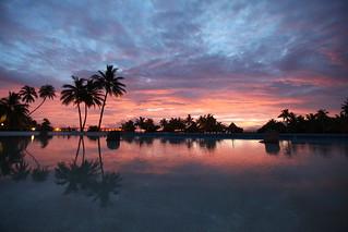 Reflected sunset Tahiti | by jonrawlinson