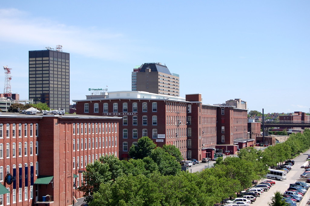 View of Manchester, NH from Millyard