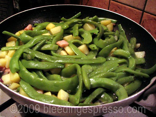 Green beans, potatoes, and pancetta | by Michelle Fabio
