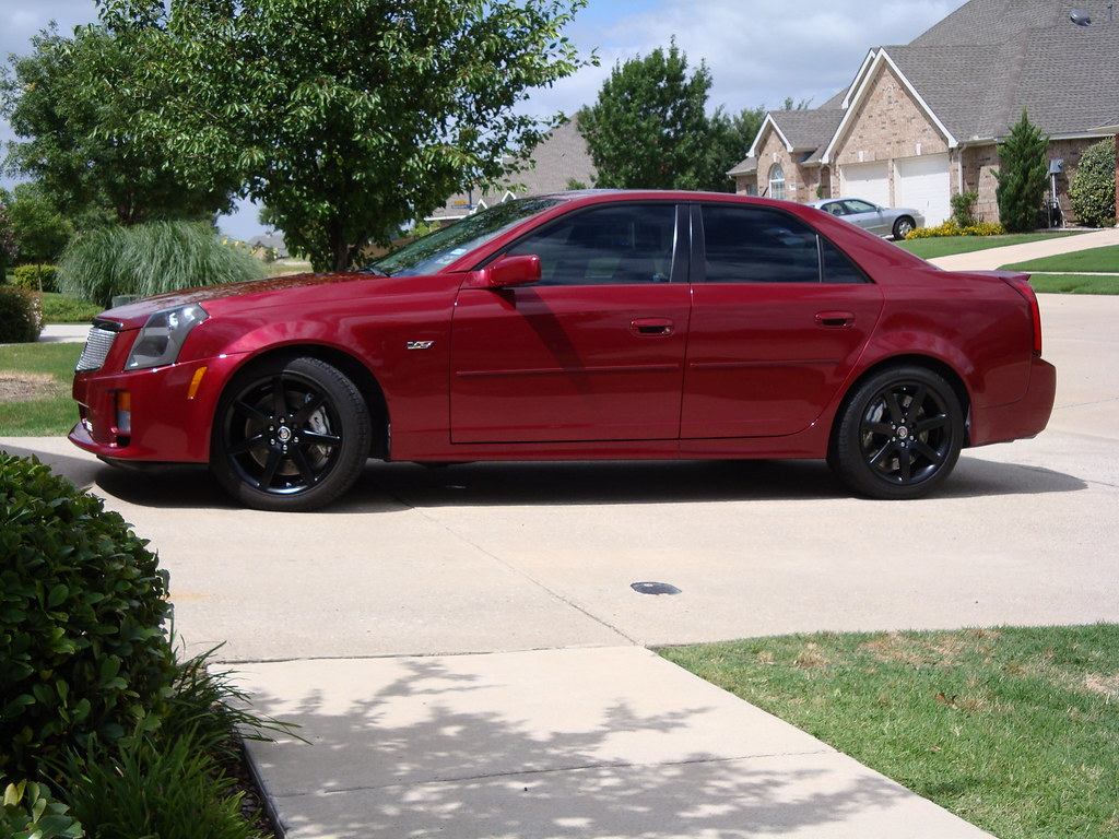 2005 Cadillac Cts V Black Rims Cts V Redline With Flat Bla Flickr