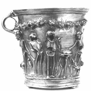 Boscoreale treasure  A ring of skeletons CUP | by Joe Geranio