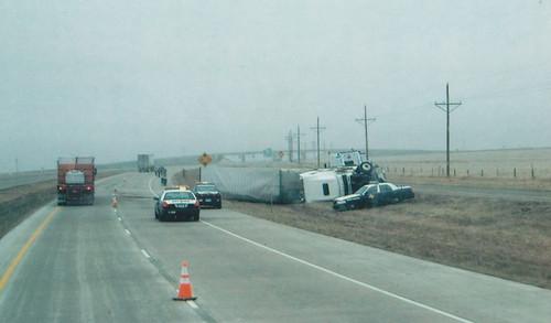 Texas over turned semi crash