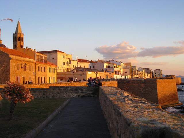 Alghero (Italy) Tramonto sui Bastioni