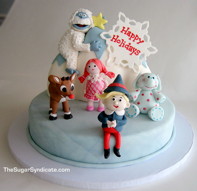 Rudolph and the Misfit Toys Cake