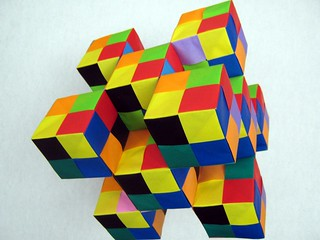 3x3-edge-based-traditional-sonobe-checkerboard-cubes | by Ardonik