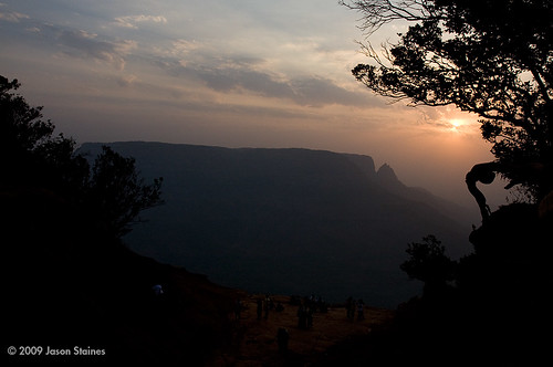 sunset india bombay mumbai matheran