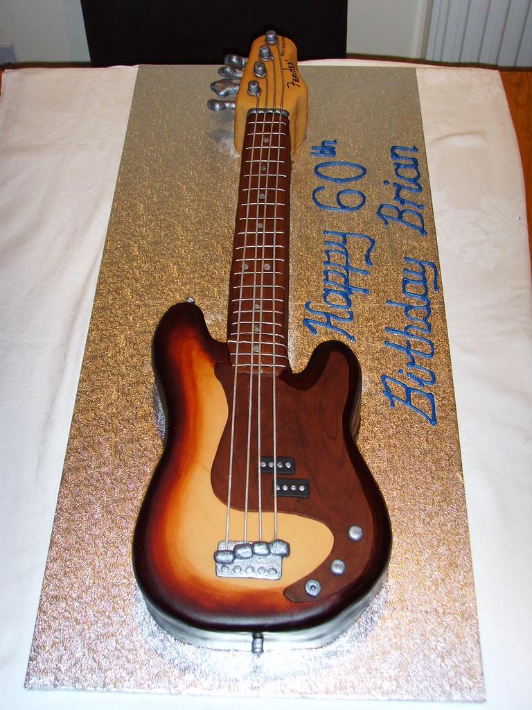 Stupendous Bass Guitar Birthday Cake Custom Made Replica Of A Bass G Flickr Funny Birthday Cards Online Alyptdamsfinfo