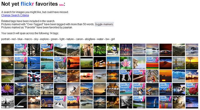 Not Yet Flickr Favorites - Update |