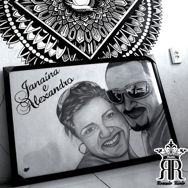 Desenho Realista Do Casal Janaina E Alexandro Que Deus Se Flickr