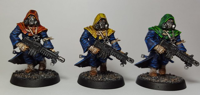 'The Heretics' Azure Silence Chaos Cultist (Front) (Painting Commission for Weijen) (Assassinorum: Execution Force Chaos Cultist Miniatures)