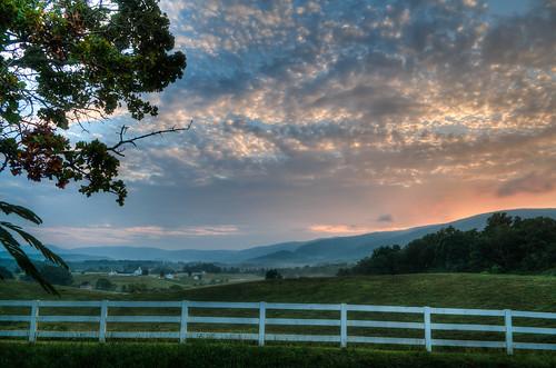 county sunset clouds fence landscape nikon va western hdr d300 hff albemarle photomatix bobmical