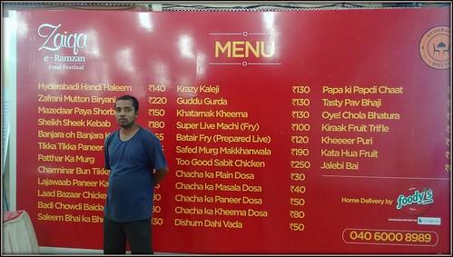 Zaiqa Hyderabad menu | by wanderingjatin