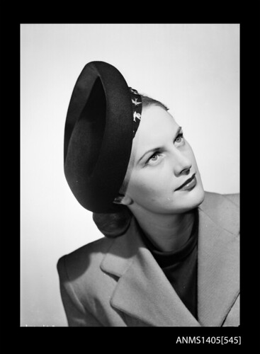 Woman modelling a hat, 1949 | by Australian National Maritime Museum on The Commons