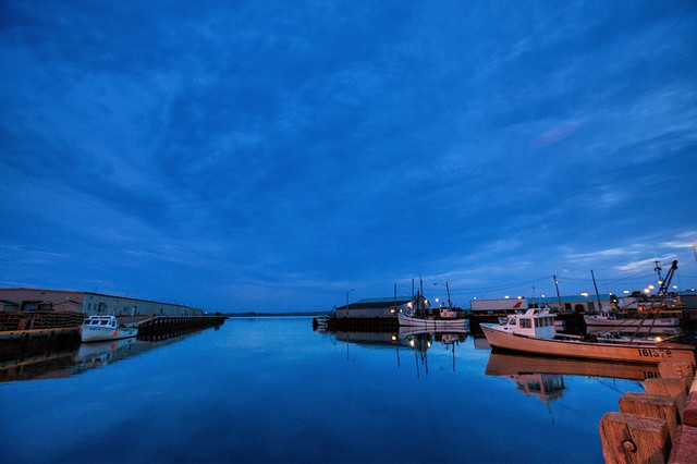 Souris Harbour in the Blue Hour