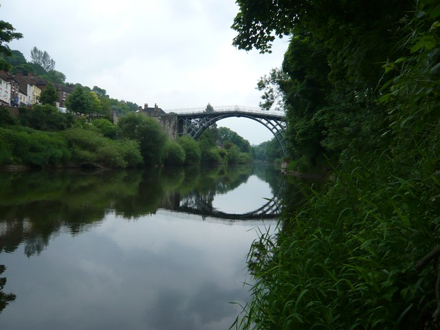 Ironbridge in perfect reflection