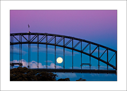 Moonrise through the bridge | by The Sage of Shadowdale
